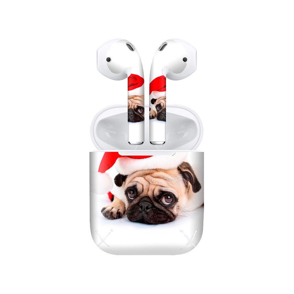 Miếng dán skin chống bẩn cho tai nghe AirPods in hình thiết kế - atk188 (bản không dây 1 và 2)
