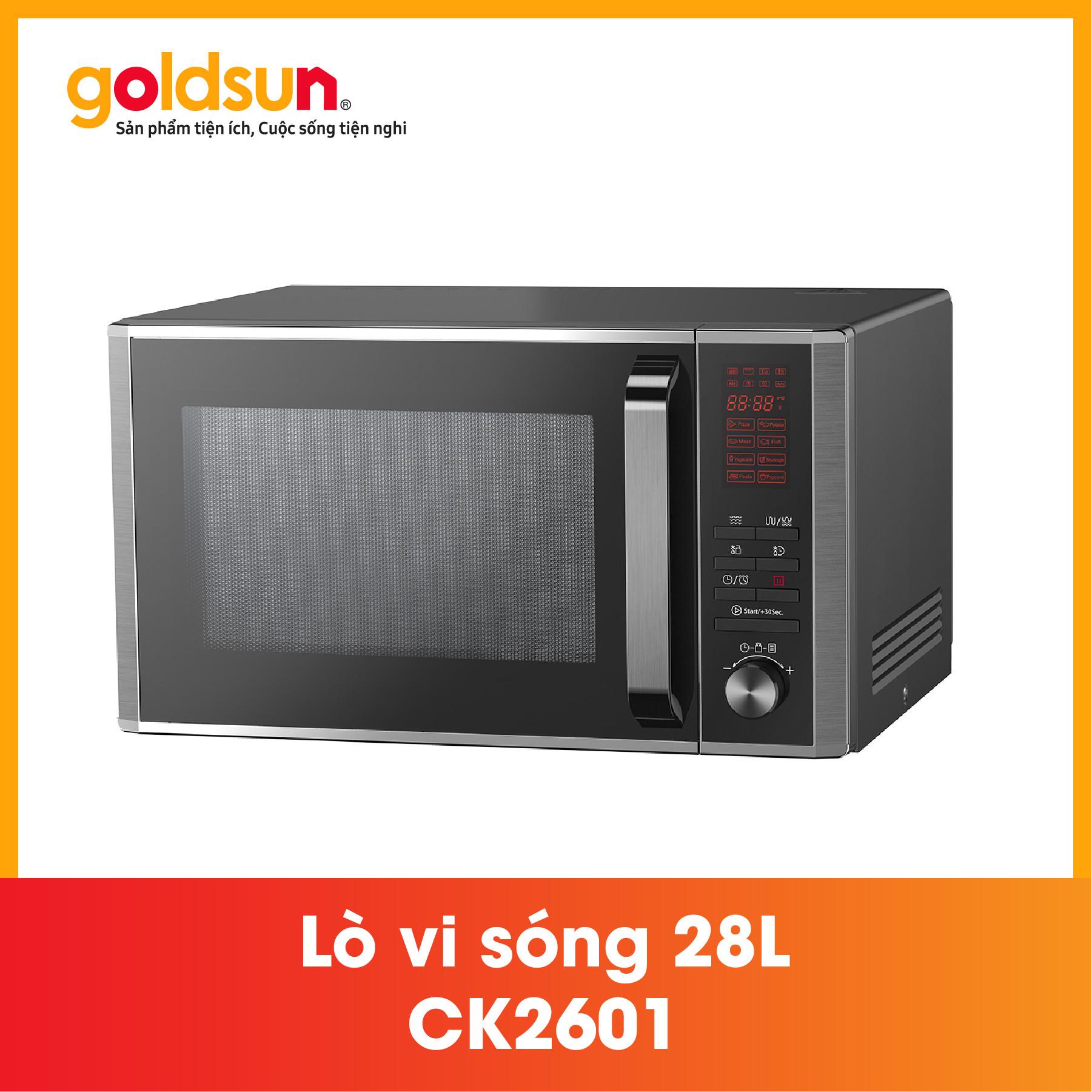 Lò vi sóng Goldsun CK2601- Điện tử 28L Hàng chính hãng