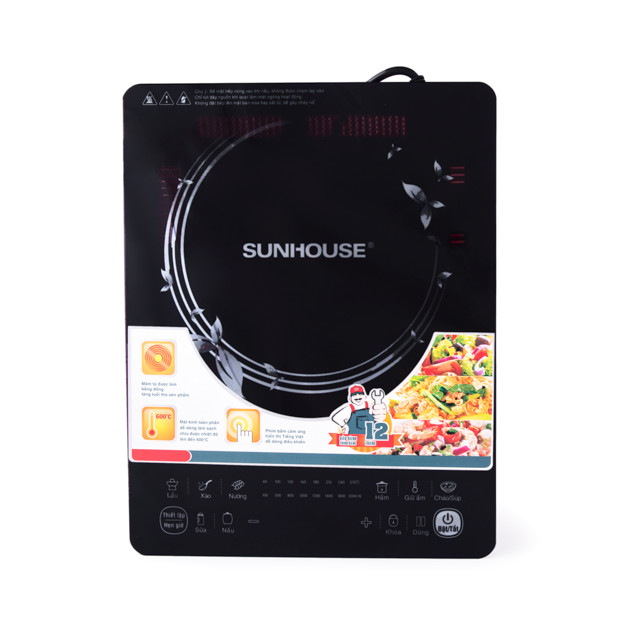 Bếp Điện Từ Cảm Ứng Sunhouse SHD6861 - Tặng Nồi Lẩu - Hàng chính hãng