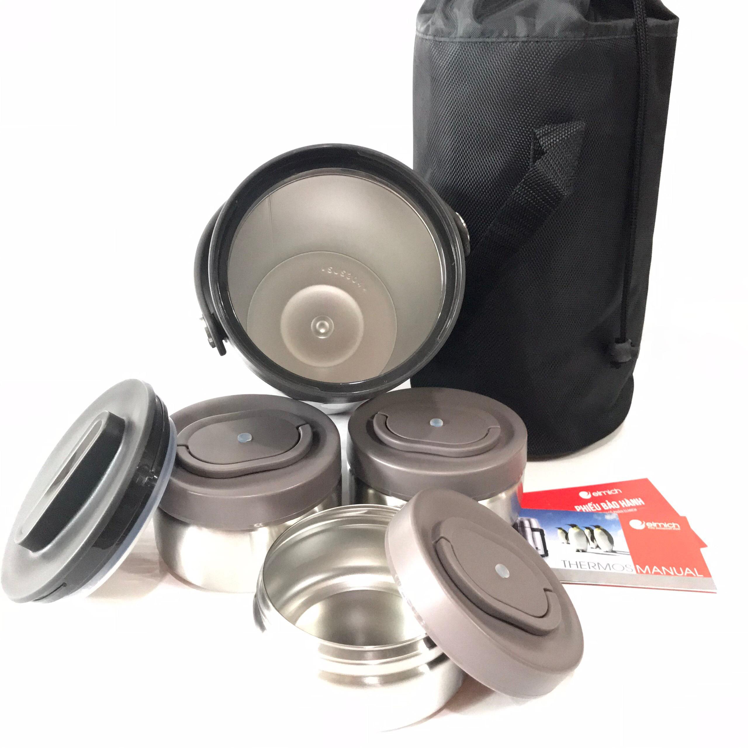 Bình đựng thức ăn giữ nhiệt Elmich EL-3129 1500ml kèm túi xách