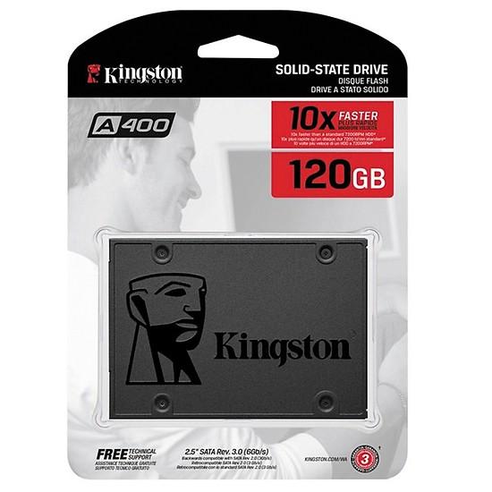 Ổ Cứng SSD Kingston A400 (120GB) - Hàng Chính Hãng + Tặng Đèn Led