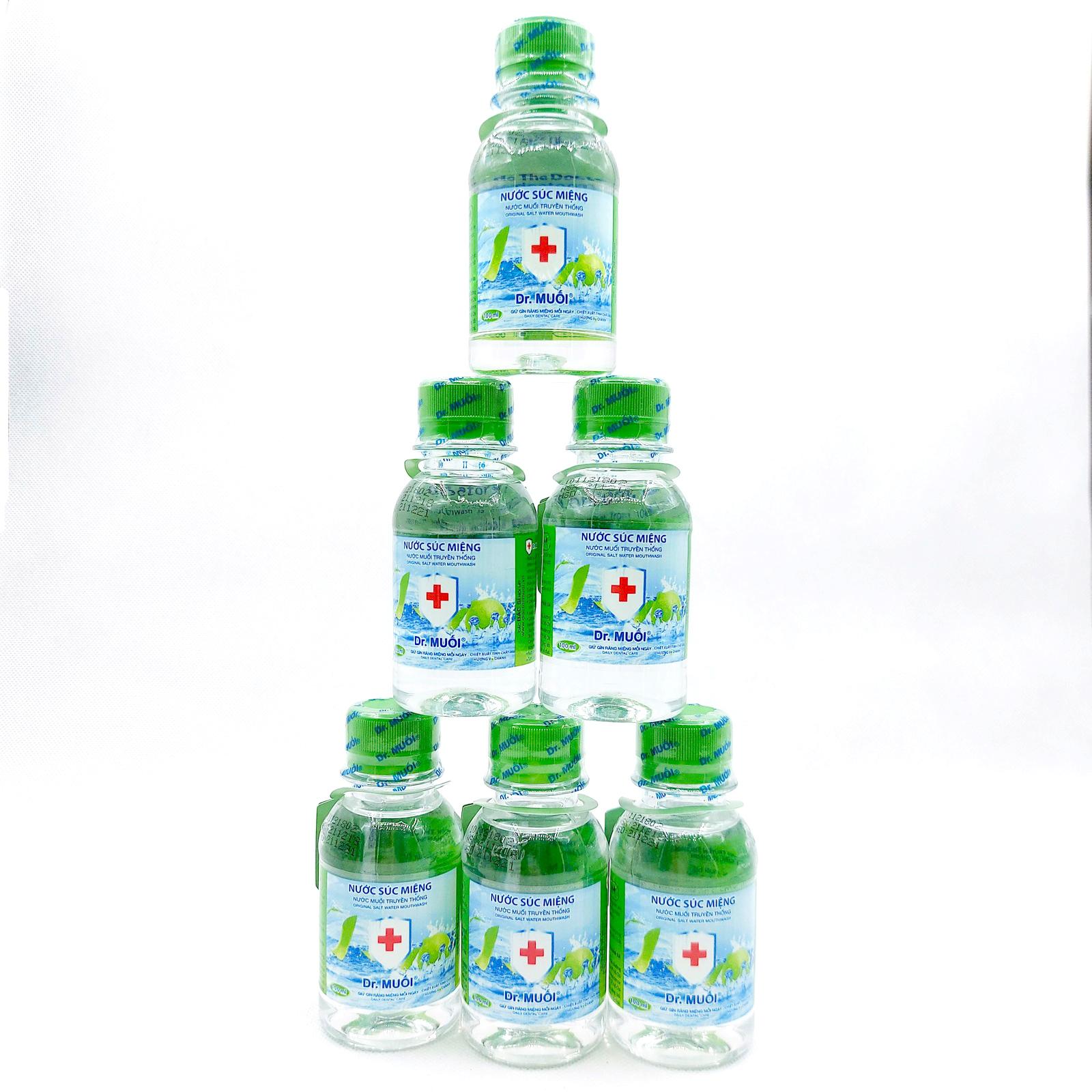 Combo 6 chai Nước súc miệng Dr. Muối hương vỏ chanh (100ml)