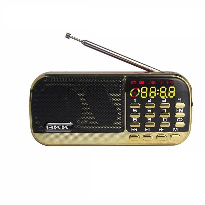 Loa Nghe nhạc USB, thẻ nhớ BKK 836 2pin (Màu ngẫu nhiên) - Hàng chính hãng