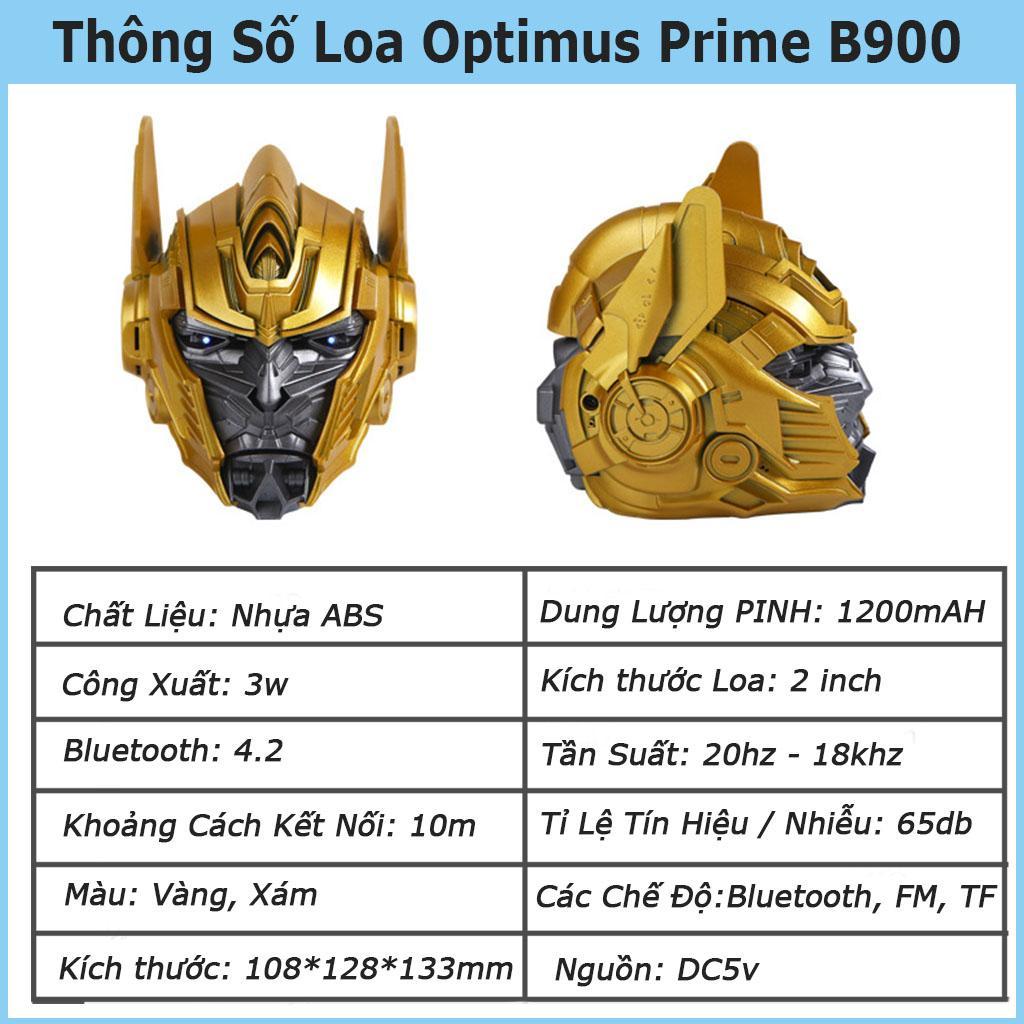 Loa Bluetooth optimus prime VINETTEAM B900 Độc Lạ,Siêu Trầm Âm Thanh Vòm Hỗ Trợ Thẻ Nhớ ,Đài FM Sống Động- Hàng Chính Hãng