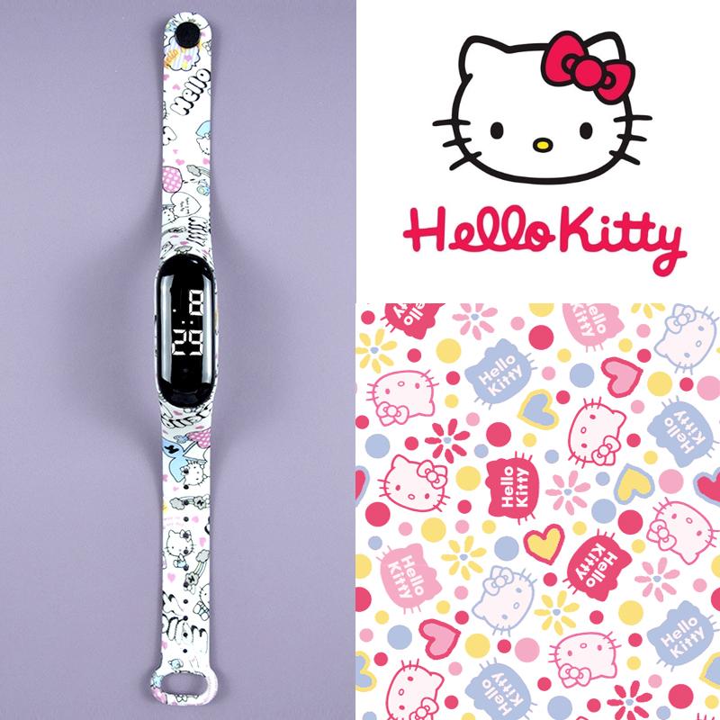 Đồng hồ cho Bé màn hình LED Model mới 2021 dây đeo thiết kế trời trang Hàng nhập khẩu - Mèo Kitty