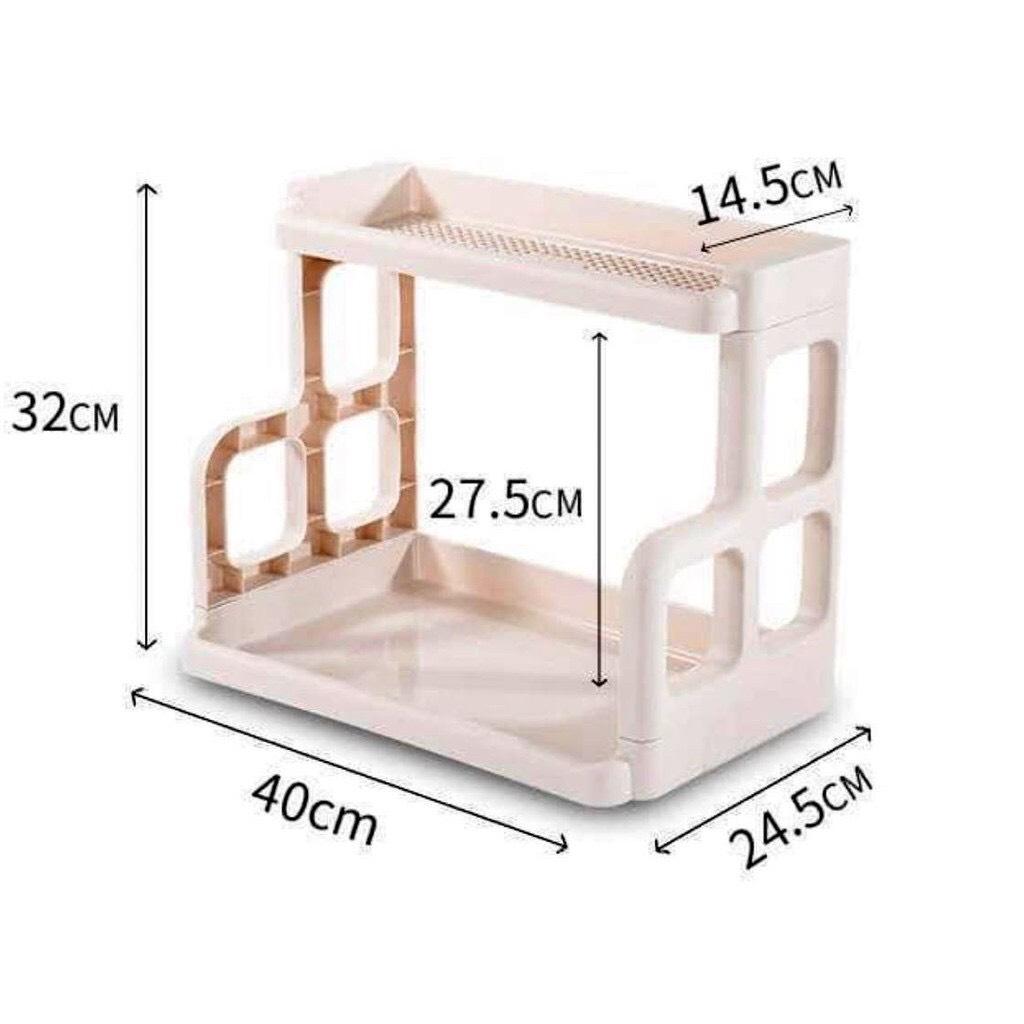 Kệ gia vị nhựa 2 tầng đa năng mã 5566 - nhựa PP chắc chắn