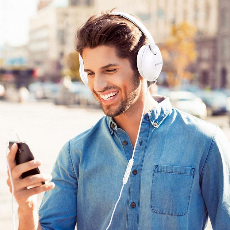 borofone bo1 enjoybass in line control wired headphones man