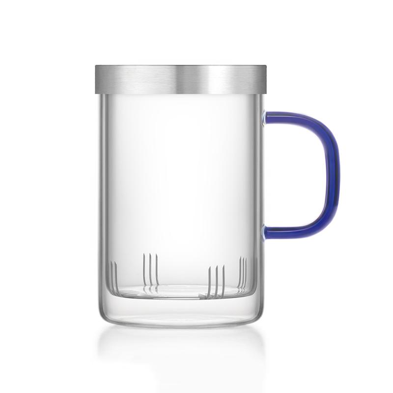Ly lọc trà thủy tinh Samadoyo S019C 500ml (Xanh)