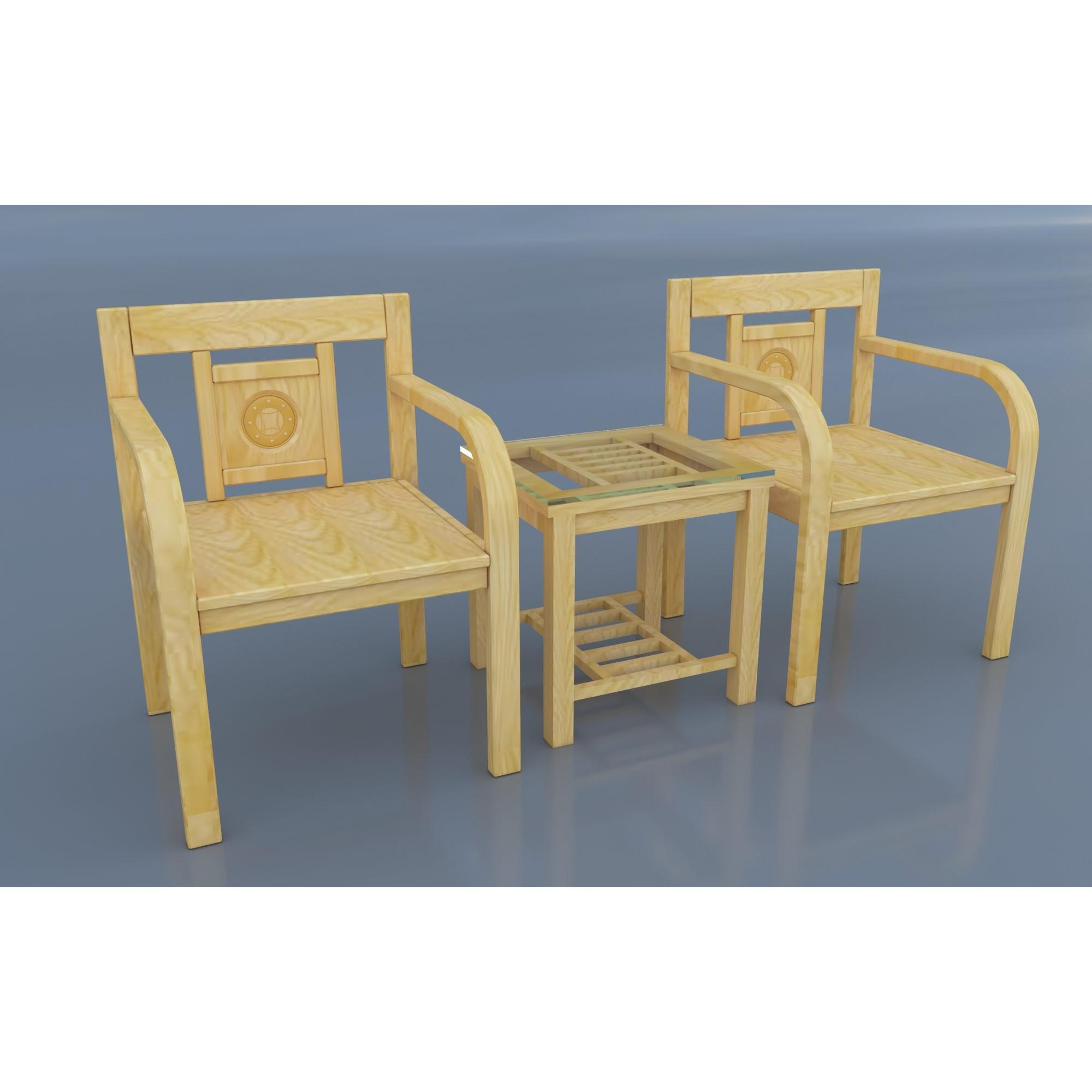 Bộ bàn ghế phòng ngủ gỗ sồi