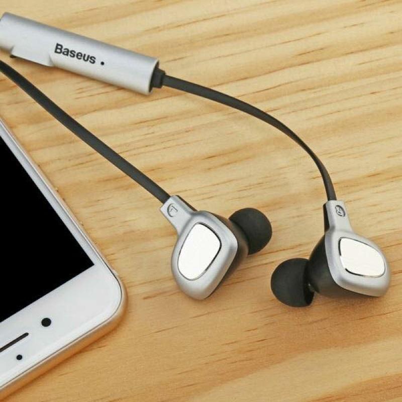 Tai nghe Bluetooth BASEUS B15 V4.1 âm thanh 4D Stereo - hỗ trợ kết nối 2 điện thoại cùng lúc (đen) Hàng Chính Hãng