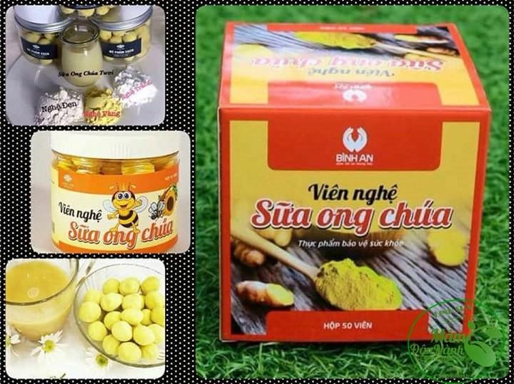 Thực phẩm bảo vệ sức khỏe - Viên nghệ sữa ong chúa 2