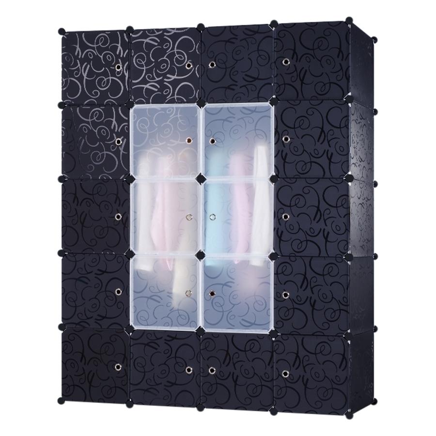 Tủ Ghép Đa Năng 20 Ô Đen, Cánh Đen Trong 20.DN.52 (145 x 180 cm)
