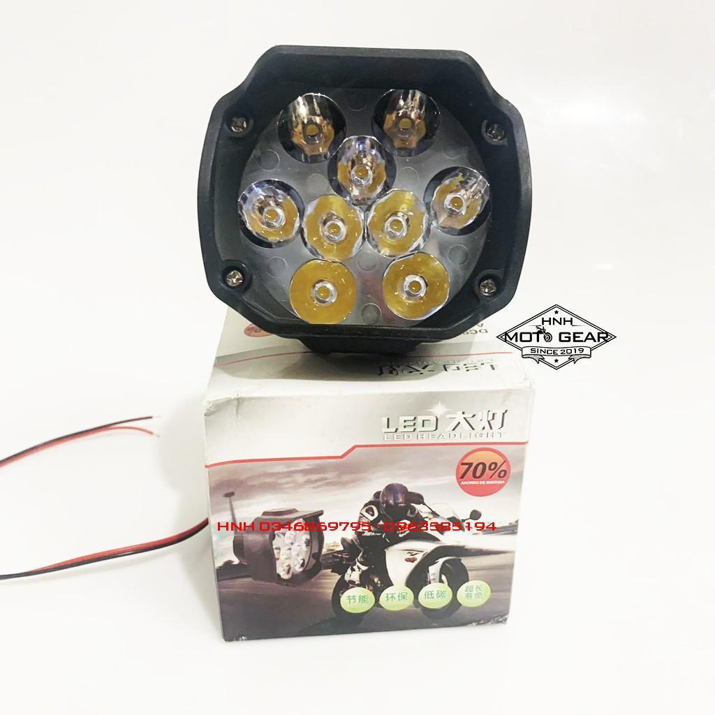 Đèn Trợ Sáng C9 Siêu Sáng Cho Xe Máy Và Xe Đạp Điện