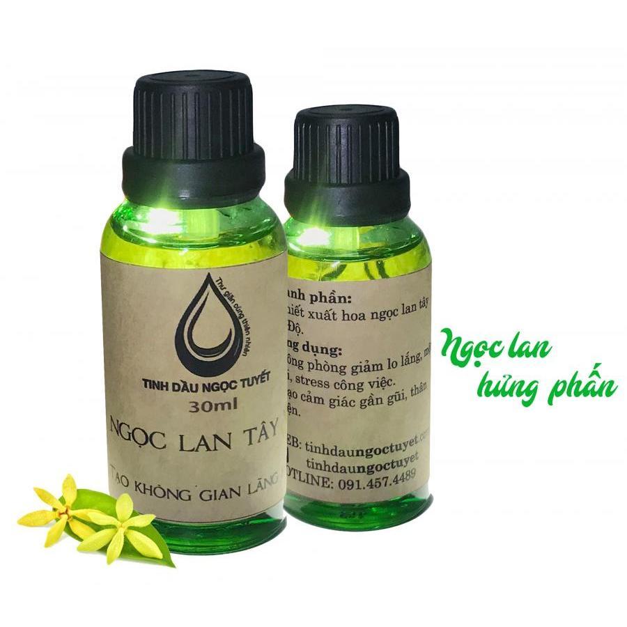 Combo 2 tinh dầu hoa ngọc lan tây thiên nhiên giúp hưng phấn giảm stress Ngọc Tuyết 50mlx30ml