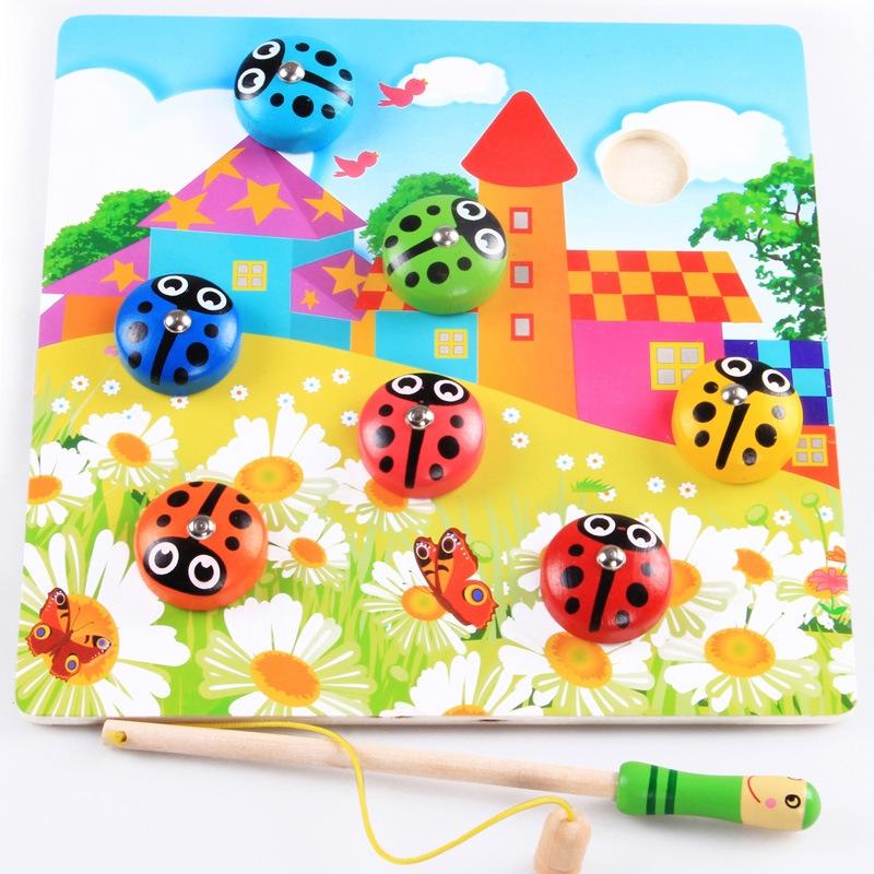 Bộ câu bọ rùa thông minh đồ chơi gỗ cho bé