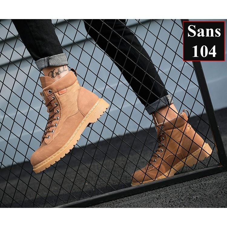 Giày Cao Cổ Nam Giày Boot Nam Sans104 Sans Shop