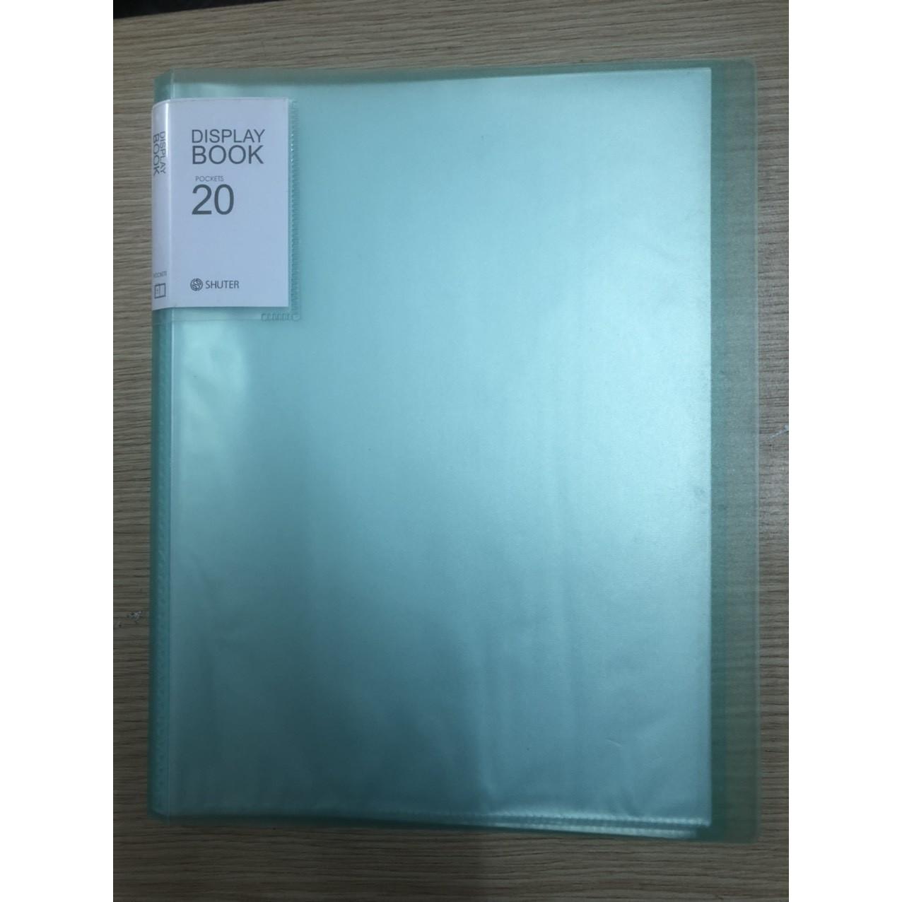 Bìa 20 lá nhựa trong A4 - Giao màu ngẫu nhiên