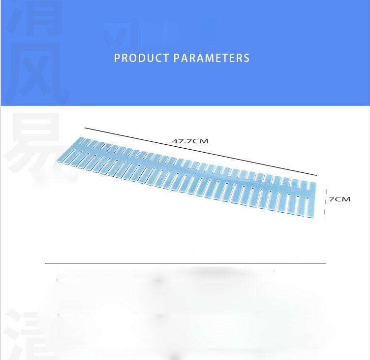 Combo 3 Thanh chia ô ngăn kéo đa năng 37.7 x7 cm (chọn màu)
