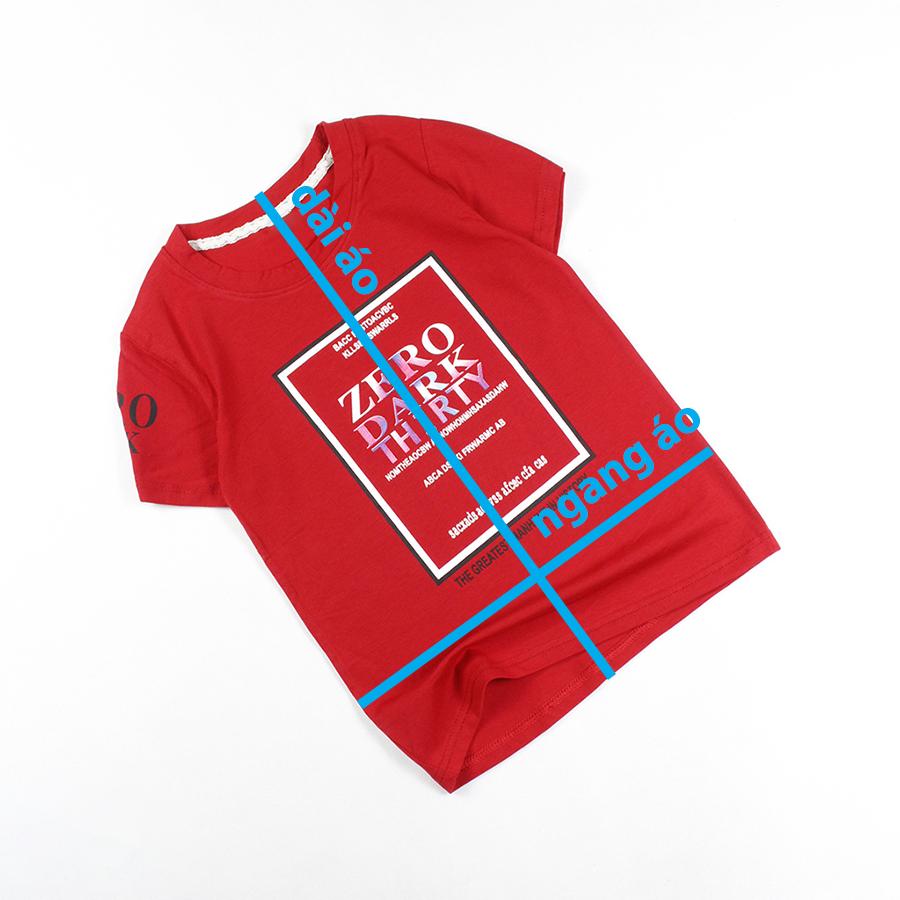 Áo thun bé trai cổ tròn tay ngắn form lớn in bảng chữ cho bé trai 8-12 tuổi từ 26 đến 40 kg 06123-06100