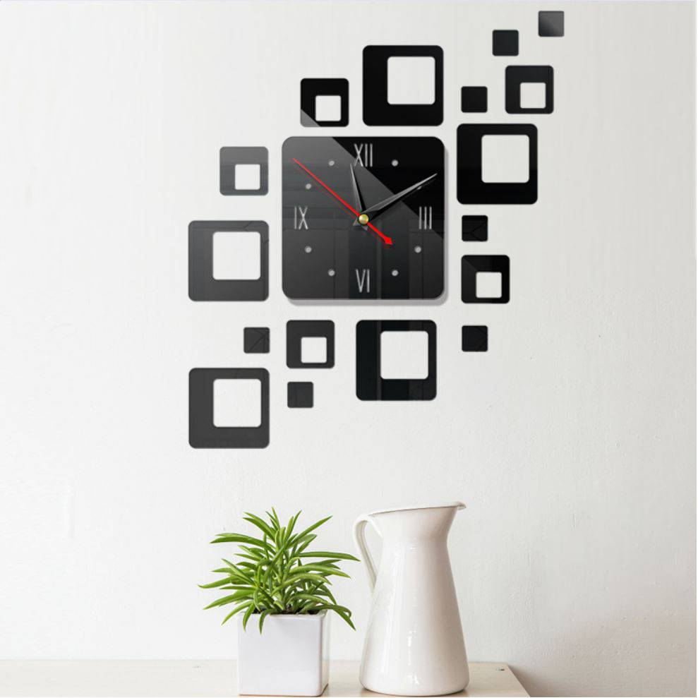 Đồng hồ dán tường TARIC 3D độc đáo