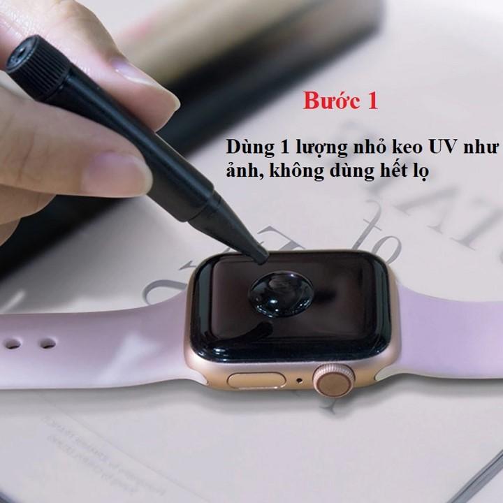 Cường lực full Apple Watch Seri 4/5 44mm uv T-Max - Hàng nhập khẩu