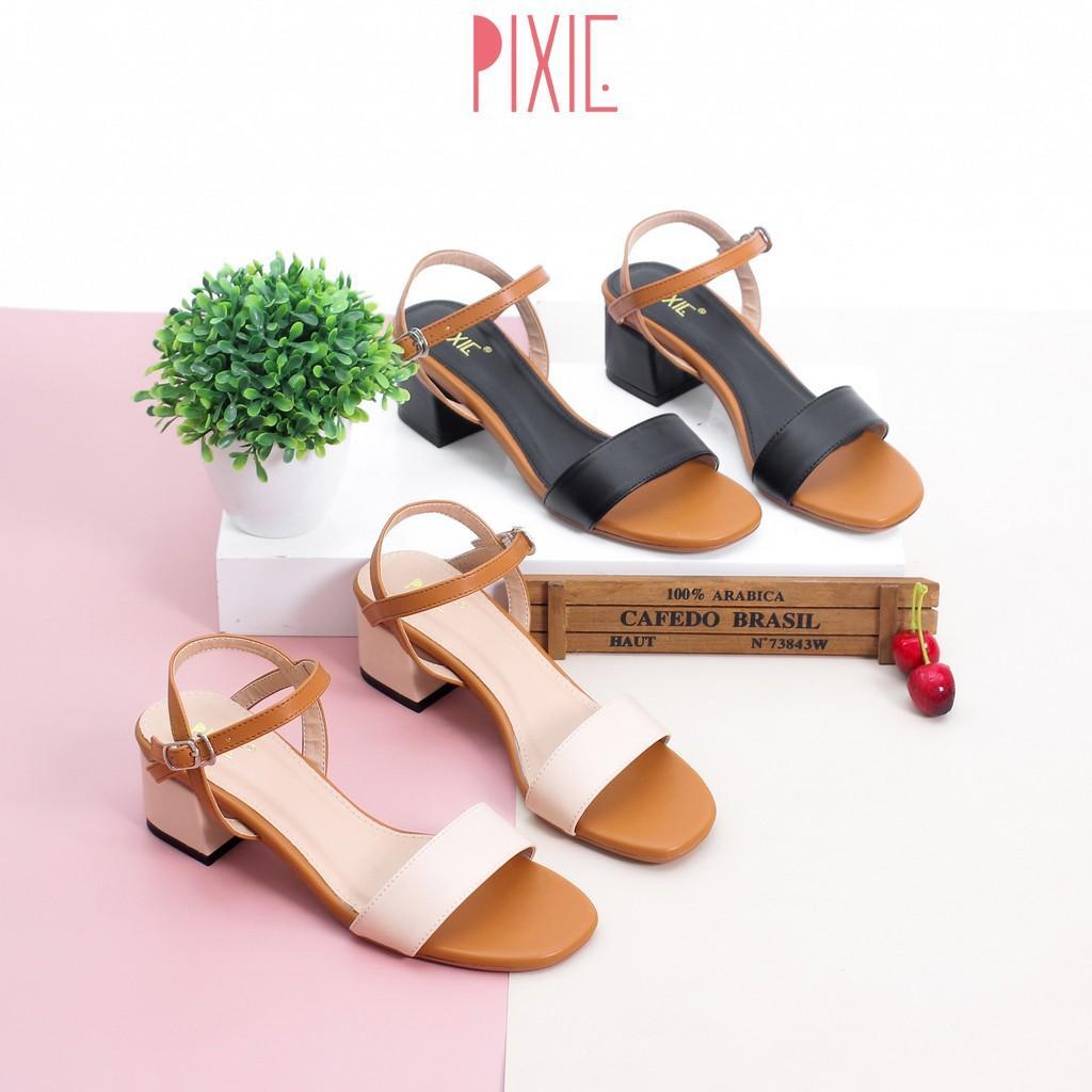 Giày Sandal Cao Gót 3cm Mix Nhiều Màu Pixie X476