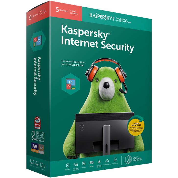 Phần mềm diệt Virus KASPERSKY INTERNET SECURITY 2019 cho 1PC/Năm - PP Chính hãng
