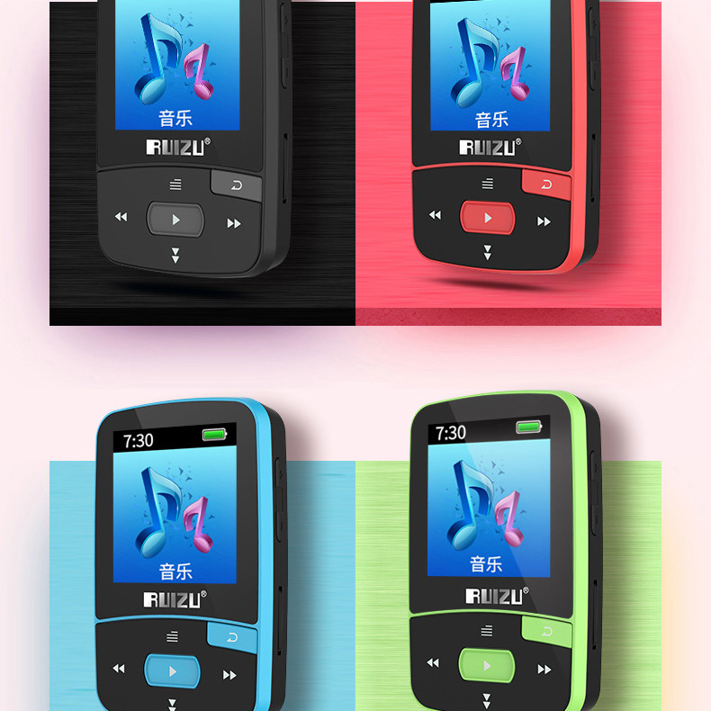 Máy nghe nhạc mp3 Lossless thể thao bluetooth 4.0 RUIZU X50 8GB Hàng Nhập Khẩu