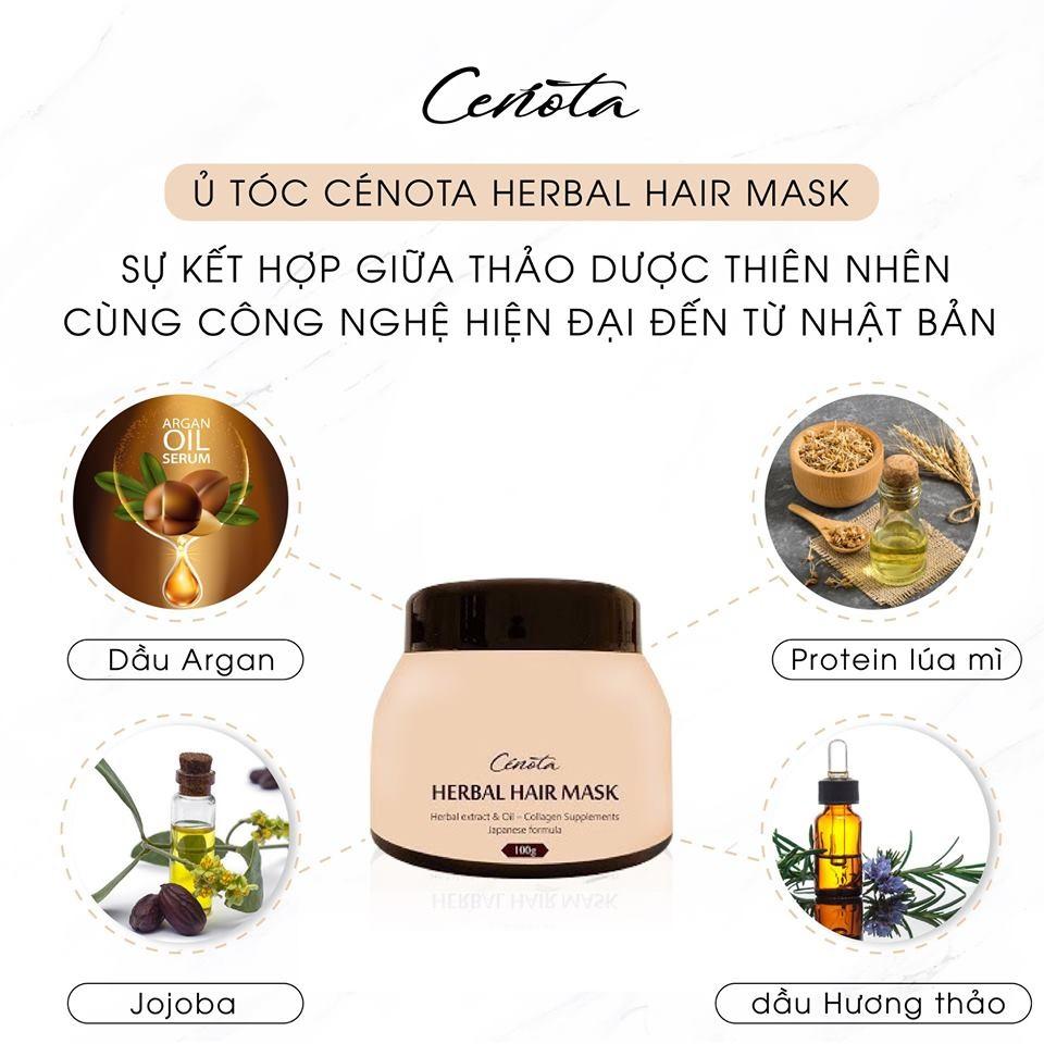 Ủ tóc thảo dược gừng Nhật Cenota Herbal Hair Mask