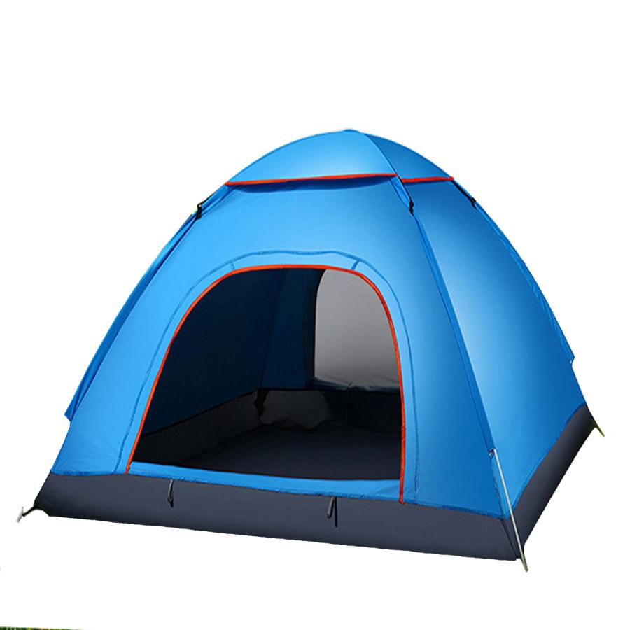Lều cắm trại - lều du lịch 3 đến 4 người xanh nước biển