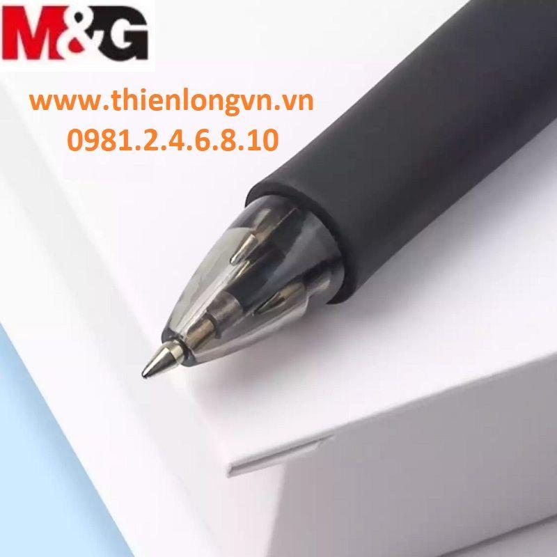 Bút bi dầu 4 màu thân đen 666 M&G - ABP80315