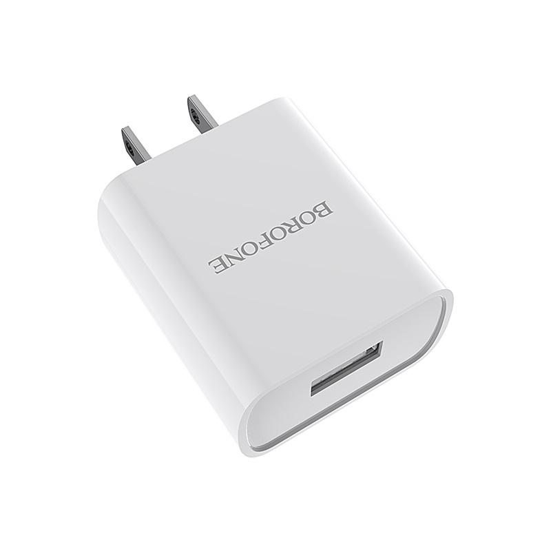 Cóc Sạc BOROFONE BA20 - 1 Cổng USB 2.1A (US) - Hàng Chính Hãng