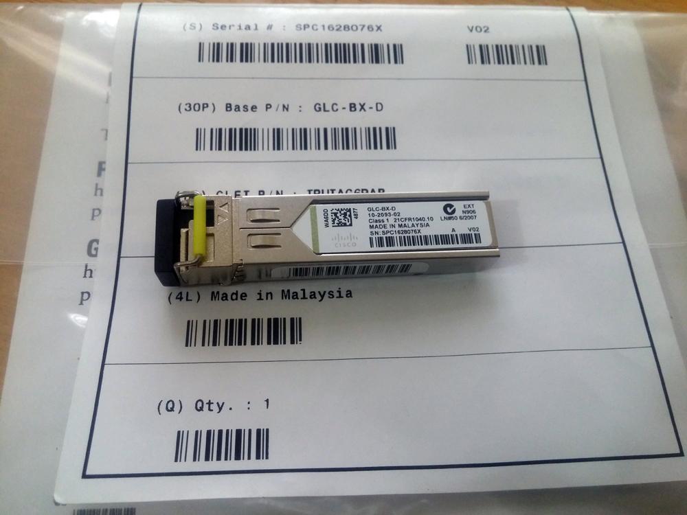 Module quang Cisco GLC-BX-D Hàng nhập khẩu 1000BASE-BX, 1490TX 1310RX, Single LC 10KM
