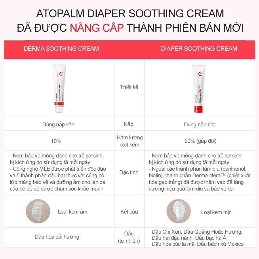 Kem chống hăm tã Atopalm Diaper Soothing Cream