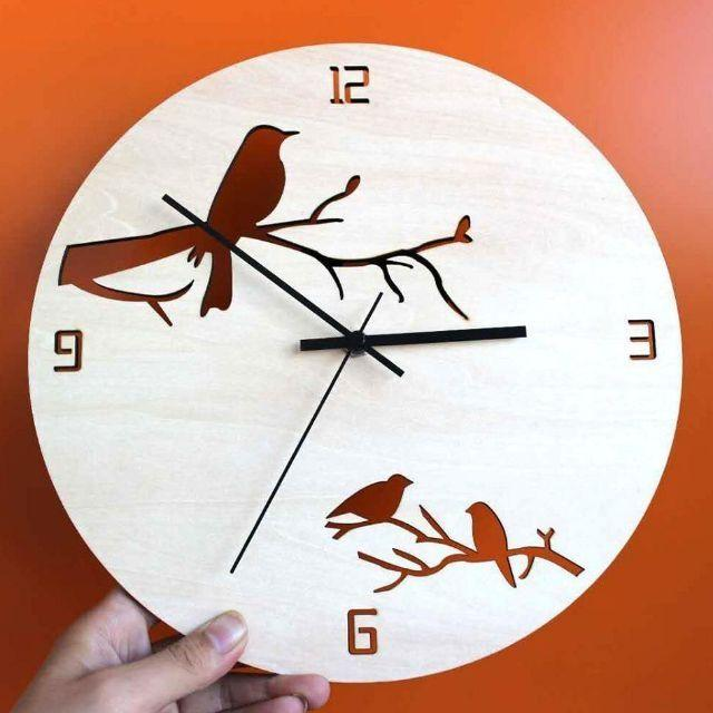 Đồng hồ treo tường con chim 30x30cm