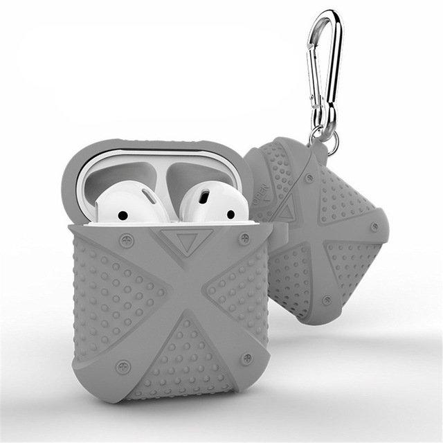 Bao case silicon cho tai nghe Apple Airpods / Earpods i-Smile chống sốc (chữ thập) - Hàng chính hãng