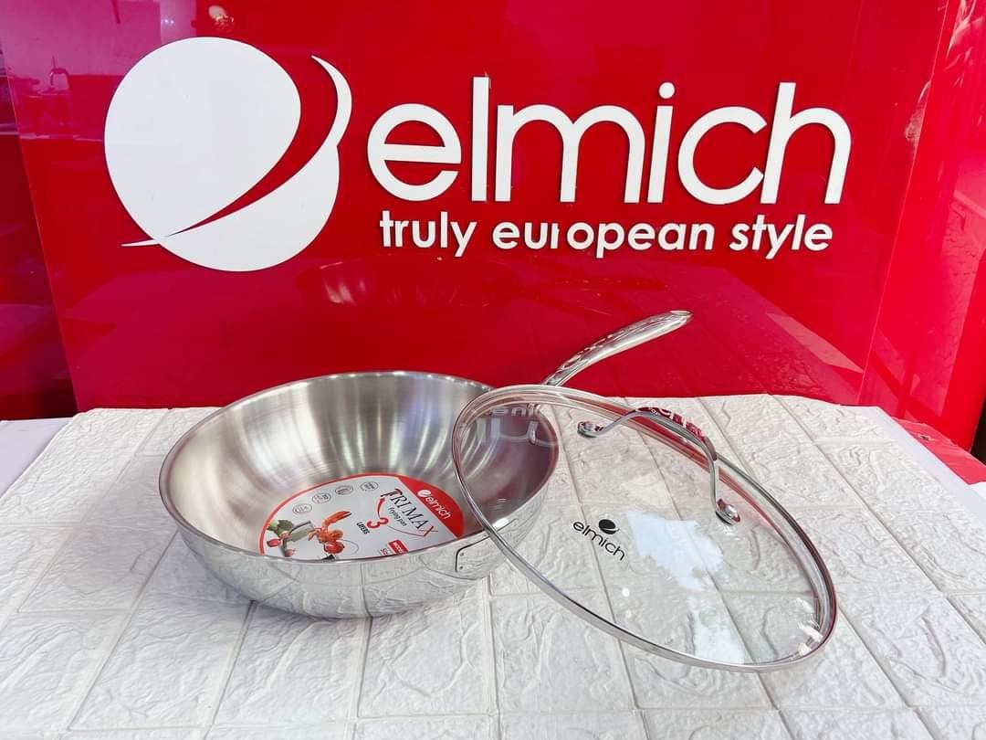 Chảo Inox 304 Cao Cấp 3 Lớp Đáy Liền Elmich Tri-Max EL-3796 Size 26cm - Hàng chính hãng