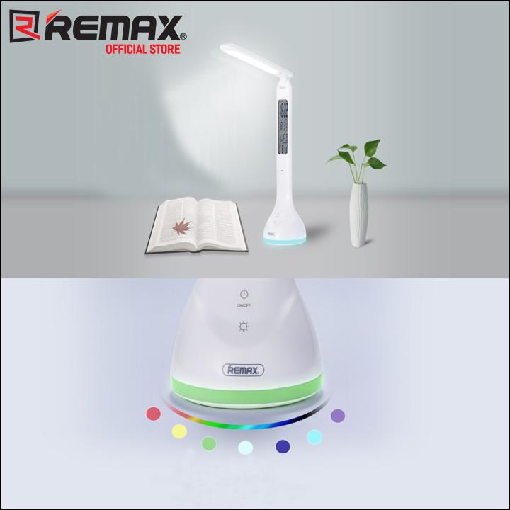 Đèn led để bàn Remax RT-E185 Tích hợp đồng hồ và bảo vệ mắt - Hàng nhập khẩu