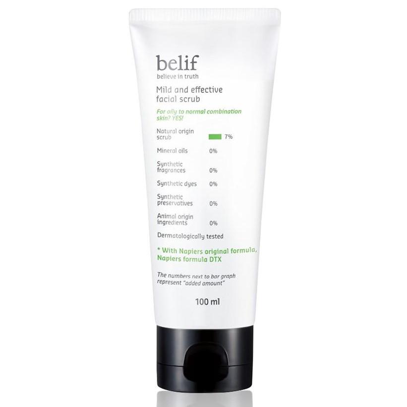 Tẩy tế bào chết thảo dược Belif Mild And Effective Facial Scrub 100ml