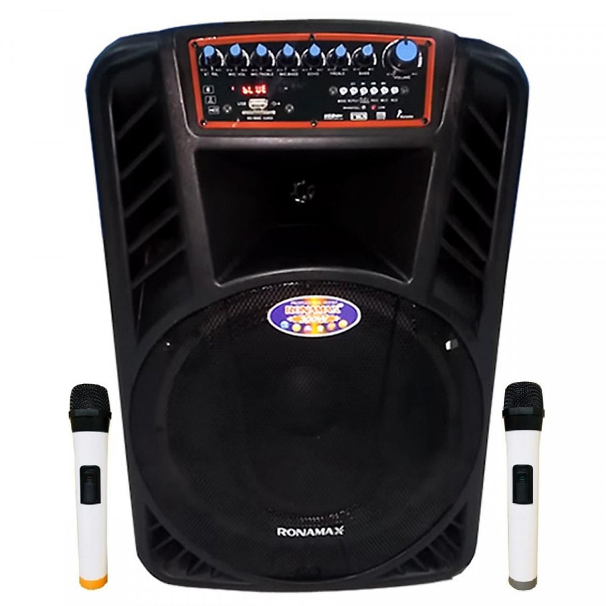 Loa kẹo kéo karaoke bluetooth Ronamax H12 - Hàng chính hãng