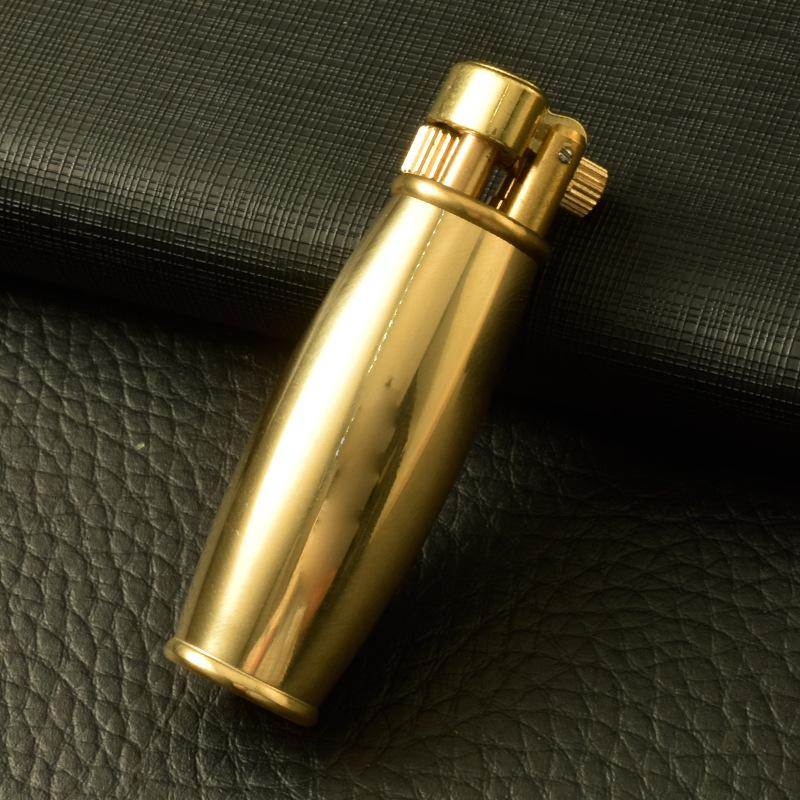 Hộp Qụet Bật Lửa Xăng Đá Đồng Z66 Thiết Kế Đẹp Độc Lạ Màu Vàng Trơn Qúy Tộc - Dùng Xăng Bấc Đá Cao Cấp