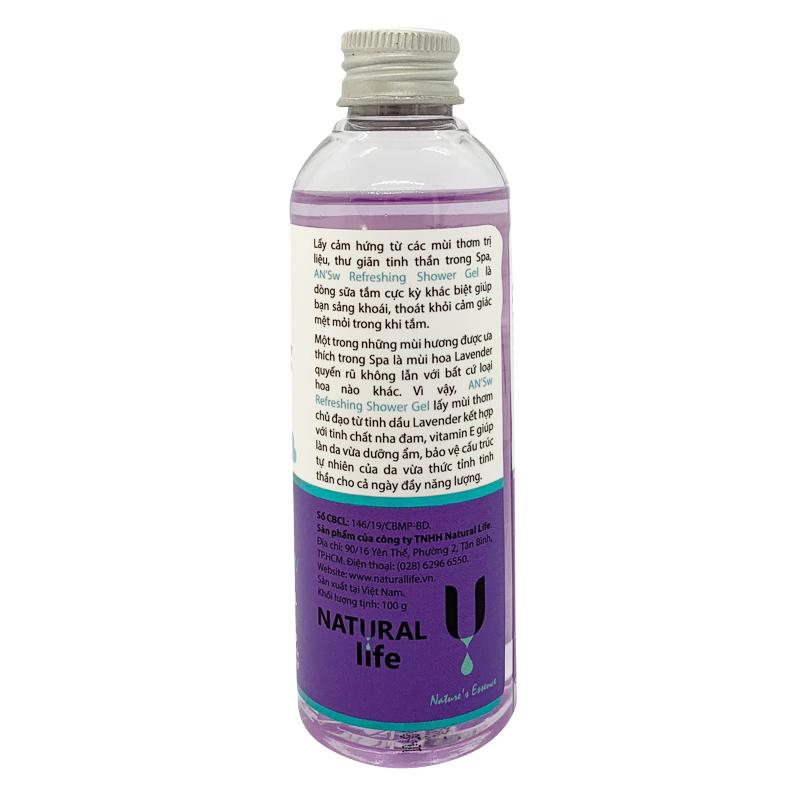 Sữa Tắm Dưỡng Ẩm Chăm Sóc Da Toàn Thân Tinh Dầu Thư Giãn - Lavender AN'Sw 100gram