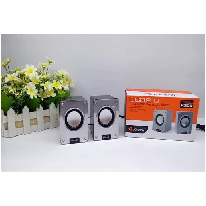 Loa Vi Tính Mini 2.0 speaker Kisonli K200 - HÀNG CHÍNH HÃNG