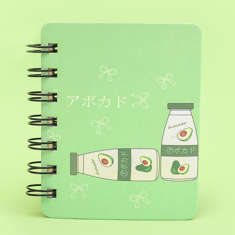 Sổ tay mini dễ thương hình quả bơ, quả đào