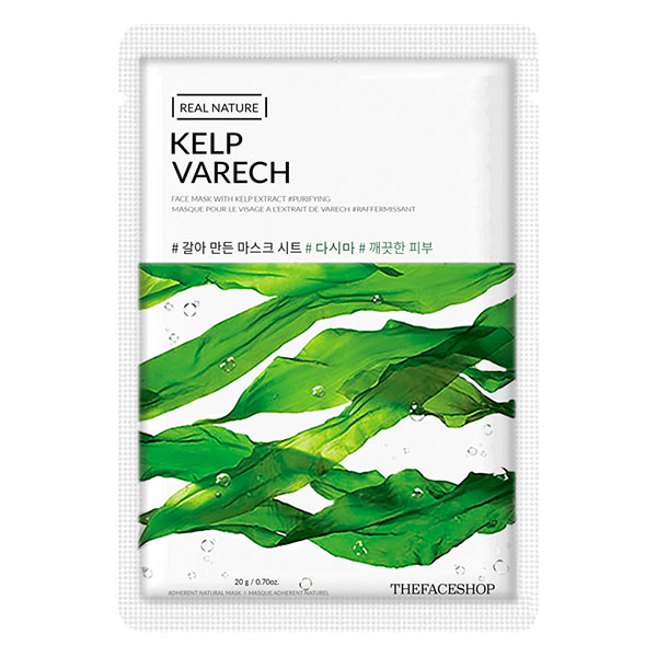 Bộ 10 Miếng Mặt Nạ Giấy The Face Shop Real Nature Kelp Face Mask 20g
