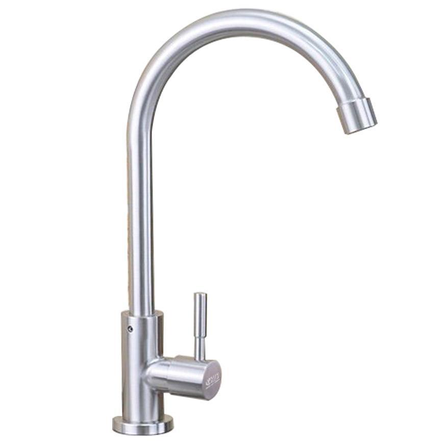 Vòi rửa bát, chén lạnh ( cong ) INOX SUS 304