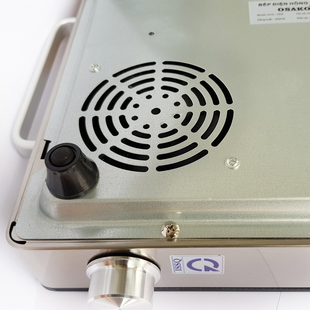 Bếp hồng ngoại Osako OHA1820 2000W kèm vỉ nướng, không kén nồi chảo, phím bấm cảm ứng kèm nút chỉnh nhiệt-Hàng chính hãng