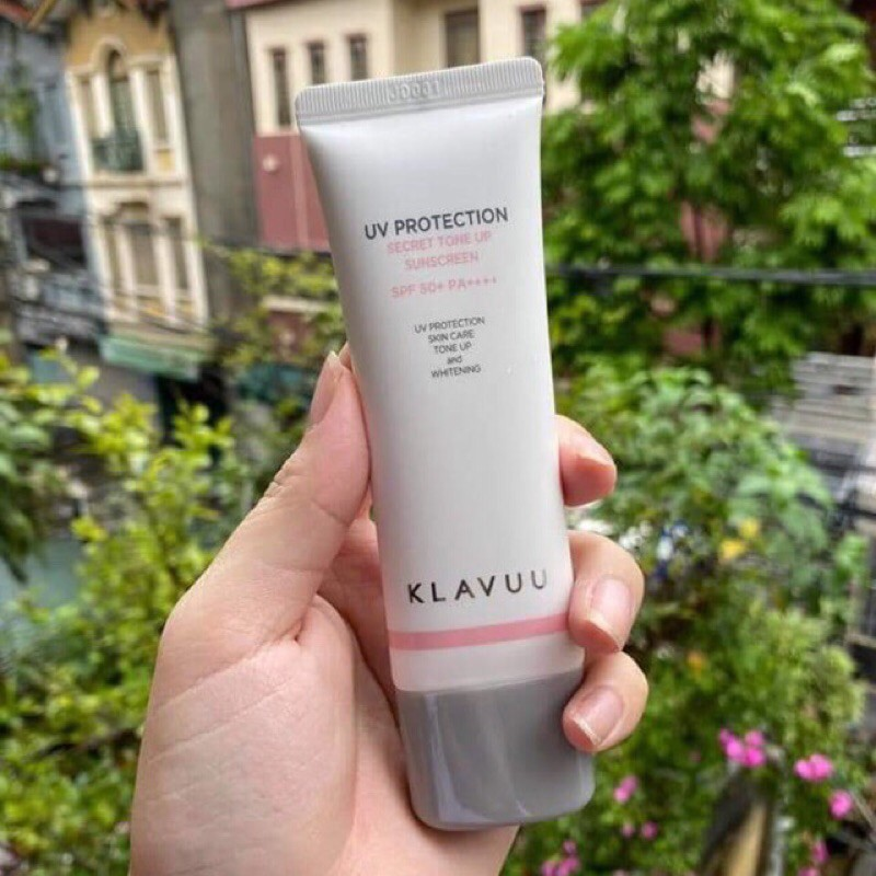 Kem chống nắng Klavuu UV Protection Secret Tone Up Sunscreen SPF50 50ml mẫu mới