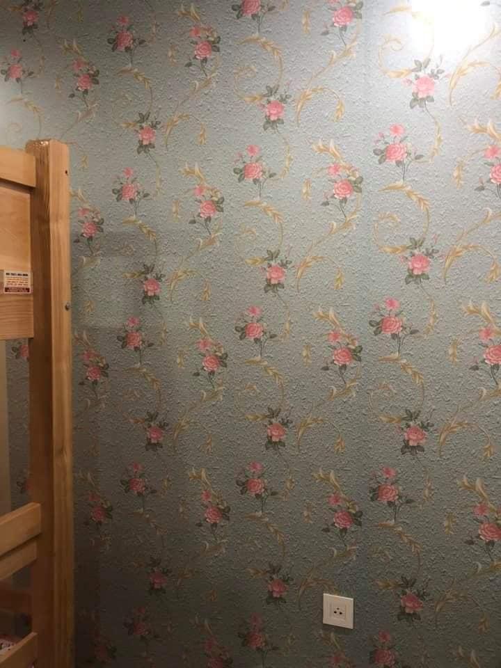 Combo 10M decal giấy dán tường dây leo hoa hồng (10mx0.45m)