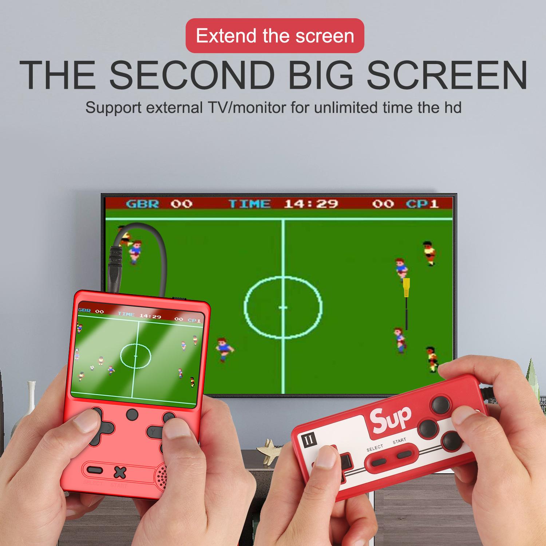 Máy chơi game cầm tay mini M6 với 500 game cononsole kết nối TV, game điện tử 4 nút mini sup500 ( Bản 2 người chơi )